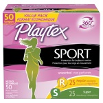 Playtex Sport Tampons, Unscented, Multi-Pack 運動用棉條 (25+25支)